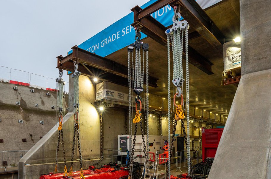 Trial push at Werrington Grade separation project